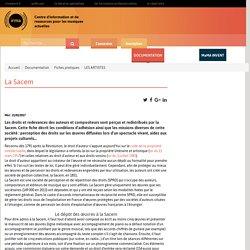 : Documentation : Fiches pratiques : LES ARTISTES : La Sacem