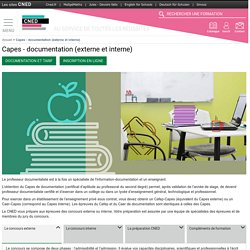 Documentation : préparation aux Capes externe et interne