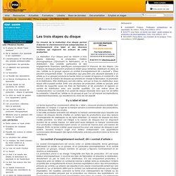 : Documentation : Fiches pratiques : LES PRODUCTEURS : Les trois étapes du disque