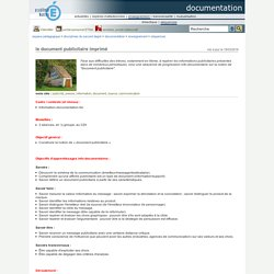 documentation - le document publicitaire imprimé