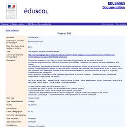 EDU'bases documentation - Les réseaux sociaux : Droits et devoirs