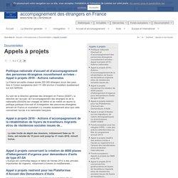 Appels à projets / Documentation / Info-ressources