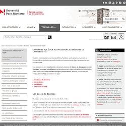 Service Commun de la Documentation - Comment accéder aux ressources en ligne de l'université ?
