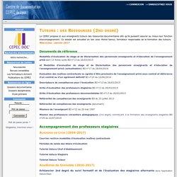 Cepec Documentation-Ressources pour les tuteurs