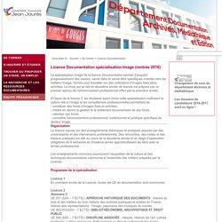 UT2J - : Département Documentation, Archives, Médiathèque et Édition - Licence Documentation spécialisation Image (rentrée 2016)