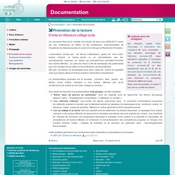 Promotion de la lecture - Documentation