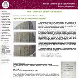Pierre de Rosette<Ulm - Lettres et Sciences humaines<Service commun de la documentation de l'École Normale Supérieure de Paris (ENS)