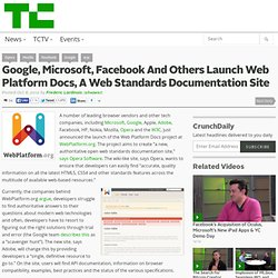 Google, Microsoft, Facebook and Others Launch Web Platform Docs, A Web Standards Documentation Site