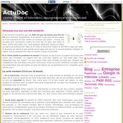 Démarquez-vous avec une carte mentale-CV - ActuDoc - Information