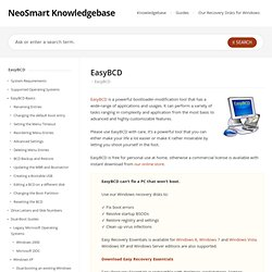 EasyBCD Documentation Home - EasyBCD - NeoSmart Technologies Wiki