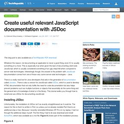 Create useful relevant JavaScript documentation with JSDoc