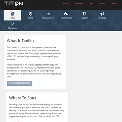 2.1.5 Documentation - Toolkit - Project Titon