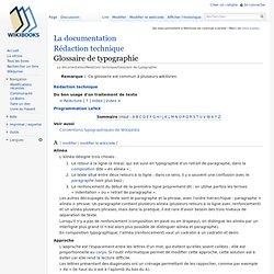 La documentation/Rédaction technique/Glossaire de typographie