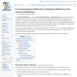 La documentation/Rédaction technique/Rédaction d'un manuel d'utilisation