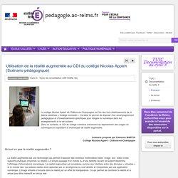 Enseigner TUIC (documentation) 6e - Utilisation de la réalité augmentée au CDI du collège Nicolas Appert (Scénario pédagogique)