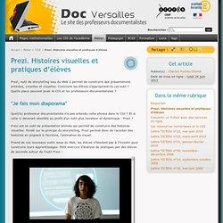 Prezi. Histoires visuelles et pratiques d'élèves