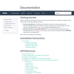 Documentation — VisPy