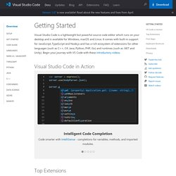 Documentation for Visual Studio Code