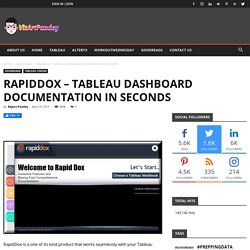 RapidDox - Tableau Dashboard Documentation in Seconds