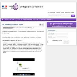 Enseigner TUIC (documentation) 6e - Un webmagazine en 6ème