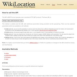 WikiLocation APIs