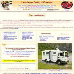 page de documentations de campingcar bricoloisirs