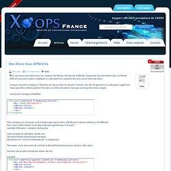 Blocs de couleurs différentes dans Xoops