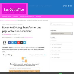 DocumentCyborg. Transformer une page web en un document – Les Outils Tice
