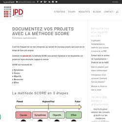 Documentez vos projets avec la méthode SCORE
