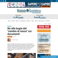 """No alla bugia del """"cambio di sesso"""" sui documenti - La Nuova Bussola Quotidiana"""
