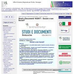 Studi e Documenti 16/2017 – Social o non Social? « MIUR Ufficio Scolastico Regionale per l'Emilia-Romagna