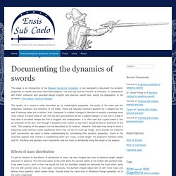 Documenting the dynamics of swords