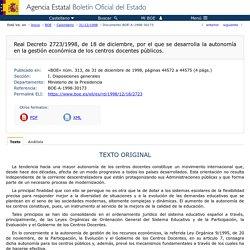 BOE-Autonomía de gestión de centros públicos