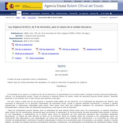 Web LOMCE BOE-A-2013-12886