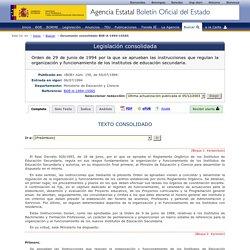 Documento consolidado BOE-A-1994-15565