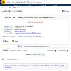Documento consolidado BOE-A-2007-7788