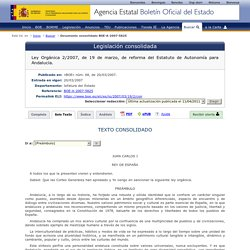 Estatuto de autonomía para Andalucía