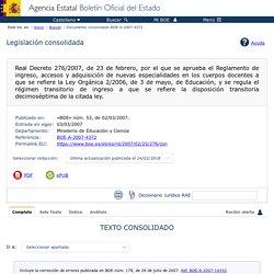 Documento consolidado BOE-A-2007-4372