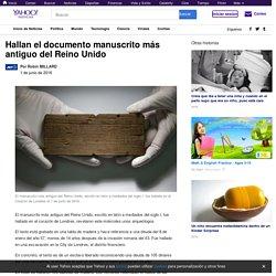 Hallan el documento manuscrito más antiguo del Reino Unido