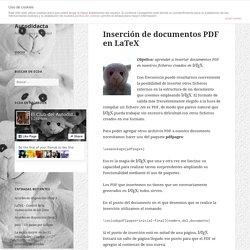 Inserción de documentos PDF en LaTeX