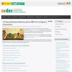 15 documentos básicos para ABP en Lengua y Literatura