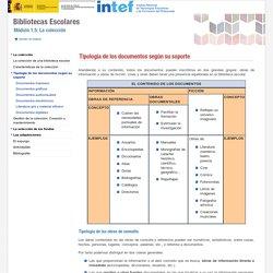 Tipología de los documentos según su soporte