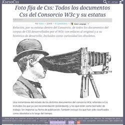 Foto fija de Css: Todos los documentos Css del Consorcio W3c y su estatus