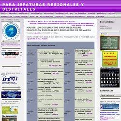 MAS DE 100 DOCUMENTOS PARA DESCARGAR EDUCACIÓN ESPECIAL DTO.EDUCACIÓN DE NAVARRA « PARA JEFATURAS REGIONALES Y DISTRITALES