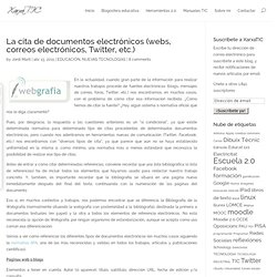 La cita de documentos electrónicos (webs, correos electrónicos, Twitter, etc.)