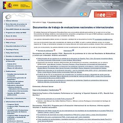 Documentos de trabajo Instituto Nacional de Evaluación Educativa