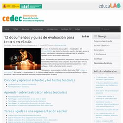 12 documentos y guías de evaluación para teatro en el aula