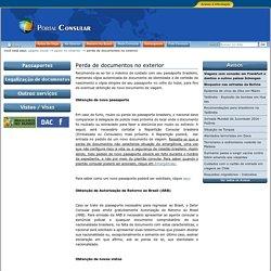 Perda de documentos no exterior — Itamaraty MRE - Portal Consular