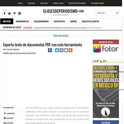 Exporta texto de documentos PDF con esta herramienta - Clases de Periodismo