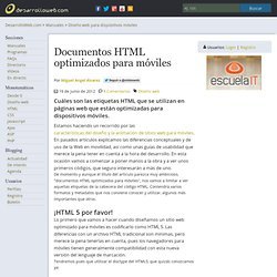 Documentos HTML optimizados para móviles
